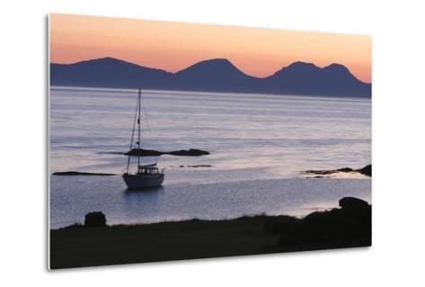 Sunset over Jura Seen from Kintyre, Argyll and Bute, Scotland-Peter Thompson-Metal Print