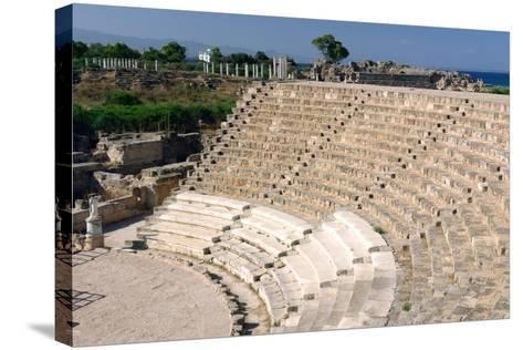 Roman Theatre, Salamis, North Cyprus-Peter Thompson-Stretched Canvas Print