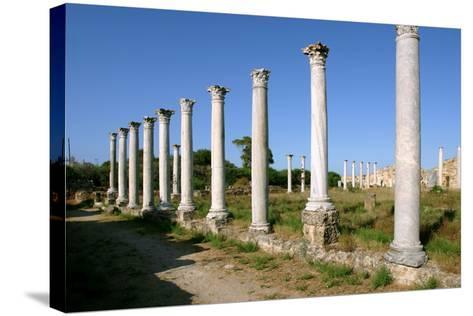 Roman Columns, Salamis, North Cyprus-Peter Thompson-Stretched Canvas Print