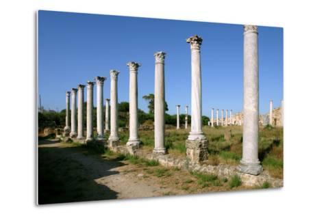 Roman Columns, Salamis, North Cyprus-Peter Thompson-Metal Print