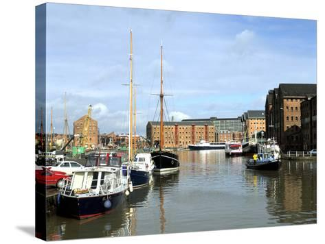 Gloucester Docks, Gloucestershire-Peter Thompson-Stretched Canvas Print