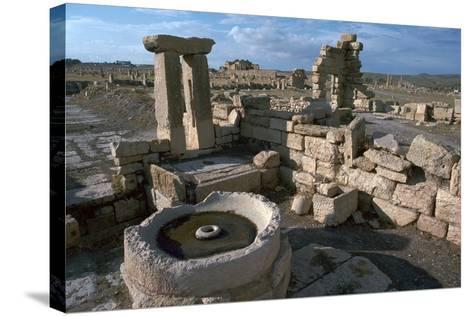 Roman Olive Presses in the City of Sufetula-CM Dixon-Stretched Canvas Print