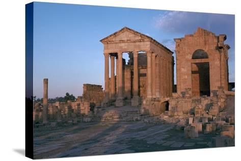 Temples in the Forum of Sufetula, 2nd Century-CM Dixon-Stretched Canvas Print