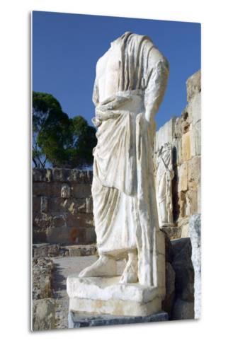 Headless Statue, Roman Gymnasium, Salamis, North Cyprus-Peter Thompson-Metal Print