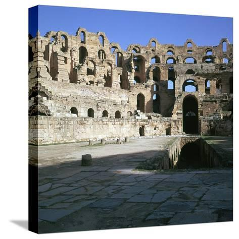 View of the Interior of a Roman Colosseum, 2nd Century-CM Dixon-Stretched Canvas Print