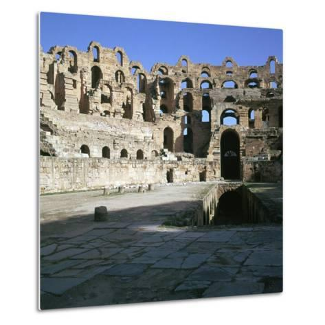 View of the Interior of a Roman Colosseum, 2nd Century-CM Dixon-Metal Print