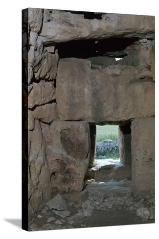 Naveta at Els Tudons, an Interior View, C.2000 Bc-CM Dixon-Stretched Canvas Print