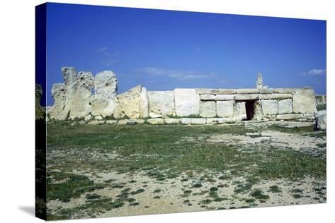 Hagar Qim Temple on Malta. (C.3000 BC)-CM Dixon-Stretched Canvas Print