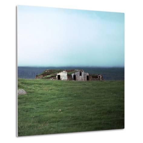 Old Viking-Style Icelandic Turf Farm-CM Dixon-Metal Print