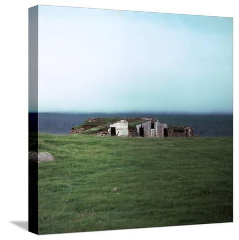 Old Viking-Style Icelandic Turf Farm-CM Dixon-Stretched Canvas Print