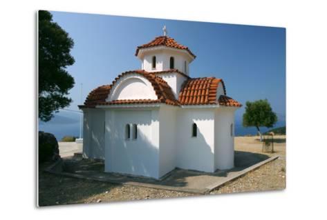 Monastery of Agrilion Church, Kefalonia, Greece-Peter Thompson-Metal Print