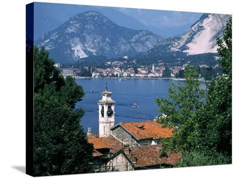 Lake Maggiore, Isola Bella Baveno in Background, Italy-Peter Thompson-Stretched Canvas Print