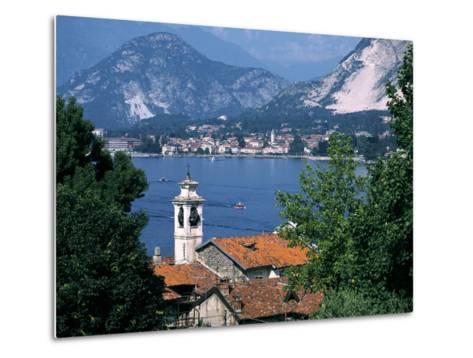 Lake Maggiore, Isola Bella Baveno in Background, Italy-Peter Thompson-Metal Print