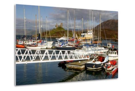 Kyleakin Harbour and Castle Moil, Skye, Highland, Scotland-Peter Thompson-Metal Print