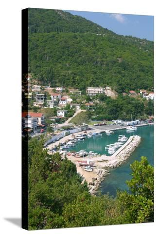 Harbour of Poros, Kefalonia, Greece-Peter Thompson-Stretched Canvas Print