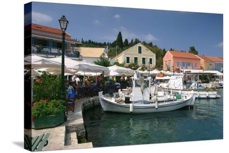 Fiskardo Harbour, Kefalonia, Greece-Peter Thompson-Stretched Canvas Print