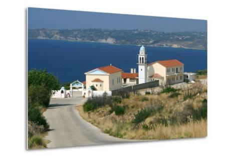 Monastery of Sissia, Kefalonia, Greece-Peter Thompson-Metal Print