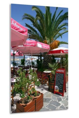 Cafe, Sami, Kefalonia, Greece-Peter Thompson-Metal Print