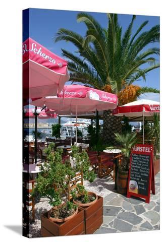 Cafe, Sami, Kefalonia, Greece-Peter Thompson-Stretched Canvas Print