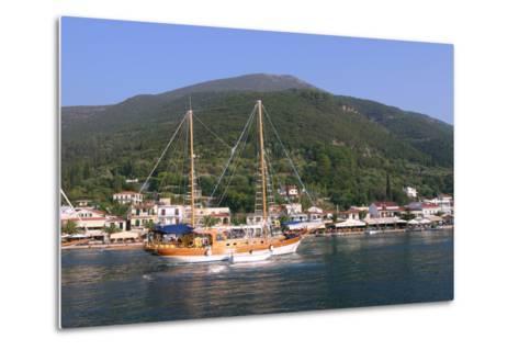 Sailing Boat Off Sami, Kefalonia, Greece-Peter Thompson-Metal Print