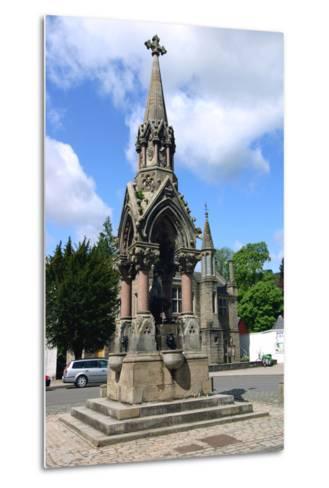 The Atholl Memorial Fountain, Dunkeld, Perthshire, Scotland-Peter Thompson-Metal Print