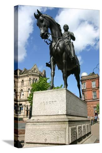 Prince Albert Statue, Wolverhampton, West Midlands-Peter Thompson-Stretched Canvas Print