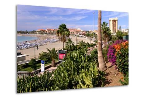 Playa De Las Vistas, Los Cristianos, Tenerife, Canary Islands, 2007-Peter Thompson-Metal Print