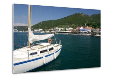 Yacht, Sami, Kefalonia, Greece-Peter Thompson-Metal Print
