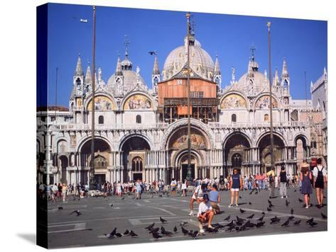 St Marks Square and Basilica, Venice, Italy-Peter Thompson-Stretched Canvas Print