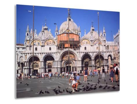 St Marks Square and Basilica, Venice, Italy-Peter Thompson-Metal Print