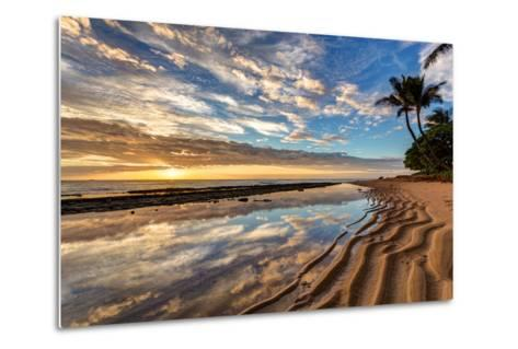 Sunrise from Kauai Kailani in the Town of Kapaa on the Hawaiian Island of Kauai.-peteleclerc-Metal Print