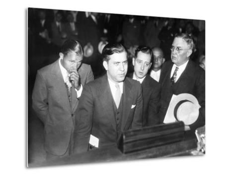 Gangster Jack Mcgurn, Was Arrested While Playing Golf in the Western Open in Chicago--Metal Print