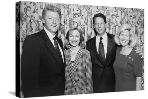 1992 Democratic Nominees for President and Vice President with their Wives--Stretched Canvas Print