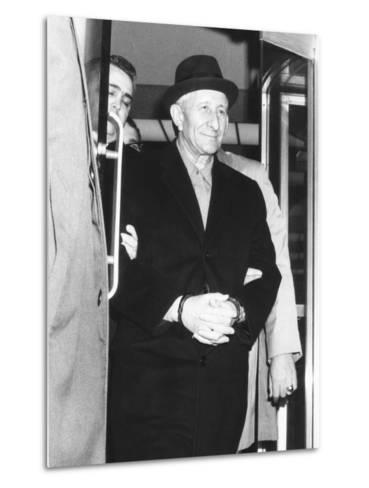 Handcuffed Carlo Gambino Is Led from Fbi Headquarters on March 23, 1970--Metal Print