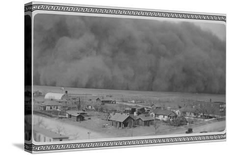 Dust Storm in Rolla, Kansas--Stretched Canvas Print