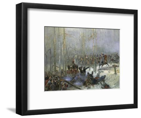 Cuirassier of Colonel Dubois Charging During Battle of Berezina, Nov. 28, 1812-Edouard Detaille-Framed Art Print