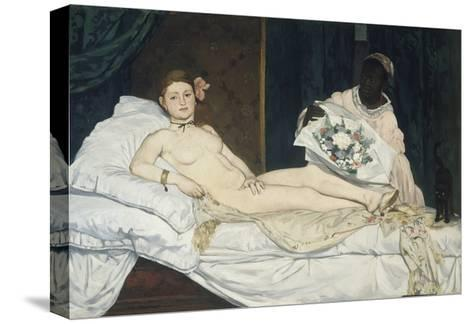 Olympia, 1863-Edouard Manet-Stretched Canvas Print