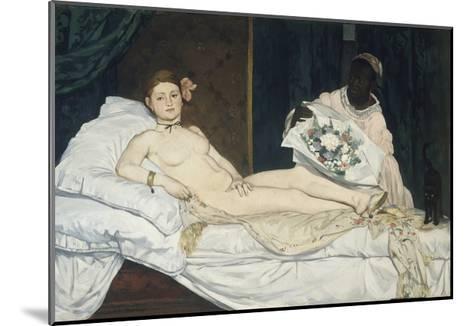 Olympia, 1863-Edouard Manet-Mounted Giclee Print