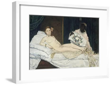 Olympia, 1863-Edouard Manet-Framed Art Print