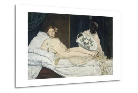 Olympia, 1863-Edouard Manet-Metal Print
