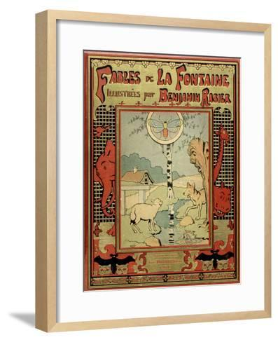 Book Cover of La Fontaine's Fables-Benjamin Rabier-Framed Art Print