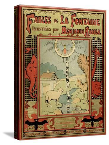 Book Cover of La Fontaine's Fables-Benjamin Rabier-Stretched Canvas Print