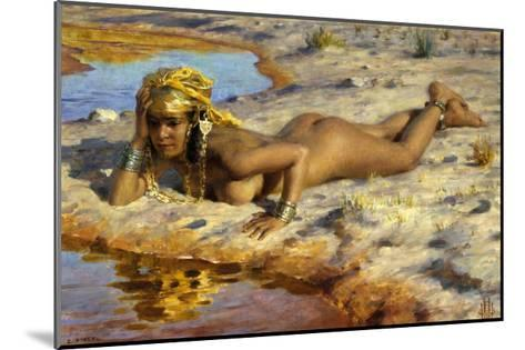 At the Edge of the Wadi (Stream)-Etienne Dinet-Mounted Giclee Print