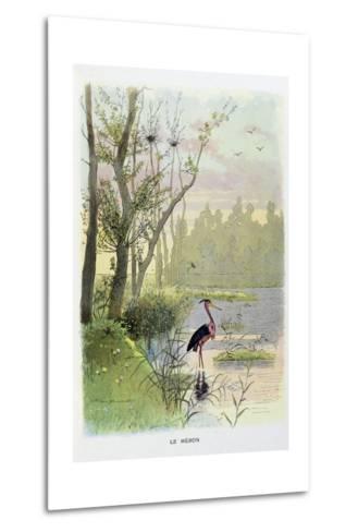 The Heron, La Fontaine's Fables-Firmin Bouisset-Metal Print