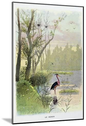The Heron, La Fontaine's Fables-Firmin Bouisset-Mounted Giclee Print