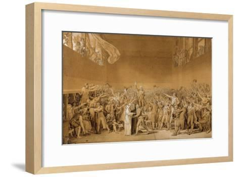 Study for the Tennis Court Oath, June 20, 1789-Jacques Louis David-Framed Art Print
