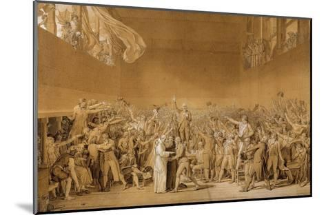 Study for the Tennis Court Oath, June 20, 1789-Jacques Louis David-Mounted Giclee Print