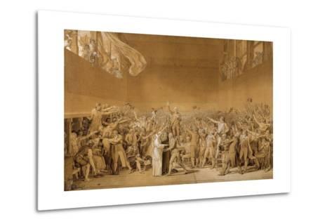 Study for the Tennis Court Oath, June 20, 1789-Jacques Louis David-Metal Print