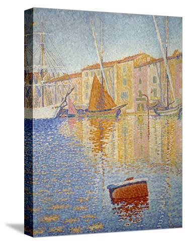 The Red Buoy, 1895-Paul Signac-Stretched Canvas Print