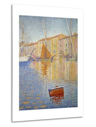 The Red Buoy, 1895-Paul Signac-Metal Print